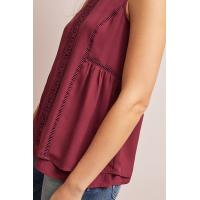 Quality Women Red Sleeveless Top with Back zip for sale