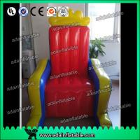 Wholesale Customized PVC tarpulin cloth Inflatable Airtight King Throne Princess Throne from china suppliers
