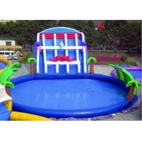 Wholesale Palm Tree Inflatable Swimming Pools With Slide , Inflatable Above Ground Swimming Pools from china suppliers
