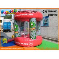 Wholesale Red PVC tarpaulin Advertising Inflatables / Cash Machine Inflatable Money Booth from china suppliers