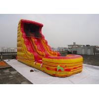 China Fire - Resistant Inflatable Water Slide With Pool HD Print / Blow Up Water Slide For Adults on sale