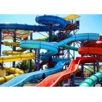 Wholesale Outdoor Fiberglass Water Slide , Anaconda Water Slide 4 Persons / Time from china suppliers