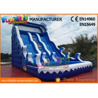 Wholesale Fire Retardant Outdoor Inflatable Water Slides / Double Lane Slip And Slide from china suppliers