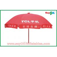 Wholesale Market Advertising Red Sun Umbrella Waterproof For Promotion 3X3m from china suppliers