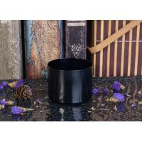 Black color painting short cylinder alumium metal candle holders