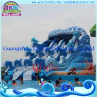 Commercial inflatable pool slide, Portable adult water slide, Inflatable Giant Beach water