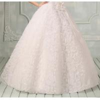 Quality Romantic lace One Shoulder Wedding Gowns Ball Gown Wedding dress with flowers for sale