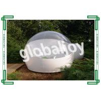 China Camping Clear Inflatable Lawn Tent Transparent Dome Tent Water Retardant on sale