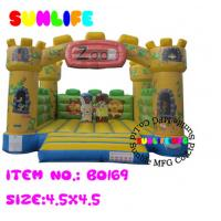 Wholesale inflatable 0.55mm pvc tarpaulin jumping castle BO185(169) from china suppliers