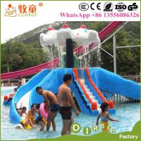 Wholesale Amusement Park Kids Water Play Equipment Fiberglass Octopus Slides for Pool from china suppliers