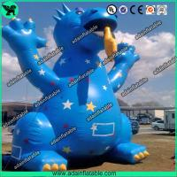 Wholesale 3m High Cute Blue Inflatable Dragon Cartoon For Giant Event , Event Inflatable Model from china suppliers