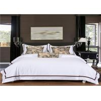 Wholesale Satin White 400T And 100% Goose Cotton Hotel Bed Linen / Hotel Bedding Collection Sets from china suppliers