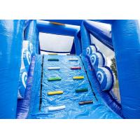 Quality Giant Crazy Inflatable Obstacle Race Blue Color For Kids And Adults for sale