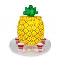 Wholesale Bright Yellow Inflatable Drinks Cooler Entertainment Pineapple PVC Drink Cooler from china suppliers