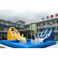 China Customized Size Inflatable Water Slides With Swimming Pool For Business Rent on sale