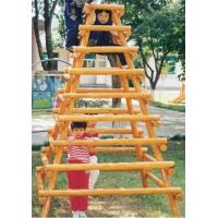 Wholesale wooden outdoor playground,The children climbed the ladder from china suppliers