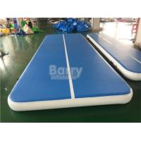 EN71 Air Tumbling Gymnastics Mats / 6m PVC Inflatable Air Track With Electric Pump