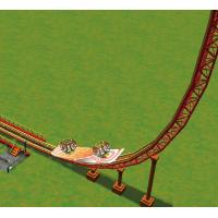 U-shaped Roller Coaster Amusement Park With 16 Persons