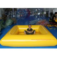 Wholesale 0.9 MM Pvc Tarpaulin Blue / Yellow Inflatable Swimming Pools Portable Above Ground from china suppliers