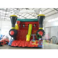 China Outside Bounce Large Inflatable Slides Red Tarpaulin For Musement Park on sale