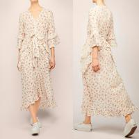Wholesale Latest Flounce Design Bohemian Summer Roses Woman Dress with Bow from china suppliers