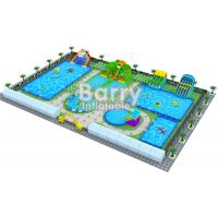Outside Customized Family Fun Inflatable Water Park Games On Land
