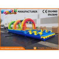 Wholesale Outside Pvc Tarpaulin Commercial Inflatable Slide With Pool 10 * 3 * 2.5m from china suppliers