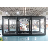 Wholesale Black Frame PVC Tarpaulin Airtight Inflatable Showcase Tent from china suppliers