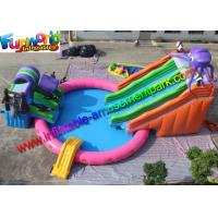 China Mini 15m Diameters Inflatable Water Parks Customized White With 680w Pump on sale