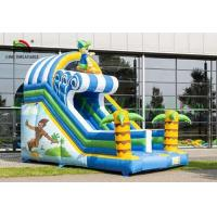 China Tropical Inflatable Dry Slide , Surfing Happy Boy PVC Slide For Kids on sale