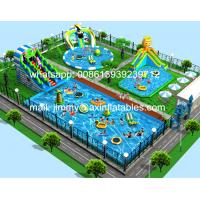 Wholesale Attractive Outdoor Inflatable Water Slide With Pool,Frame Pool Type Inflatable Water Park Business Plan For Family Fun from china suppliers