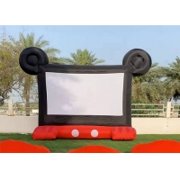 Wholesale 0.45 mm PVC Commercial Rental Outdoor Inflatable Film Screen For Family Enjoyment from china suppliers