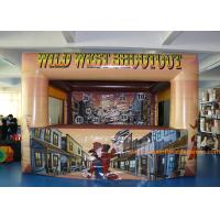Quality 0.45mm Plato PVC Inflatable Wild West Shoot Game With Digital Printing for sale
