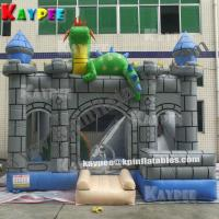 Wholesale Dinosaur house combo ,inflatable combo game,dinosaur bouncer with slide obstacle KCB058 from china suppliers