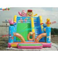 Wholesale Full Printing Sponge Bob Rent Inflatable Slide , Cute Customized Inflatable Slide Toys from china suppliers