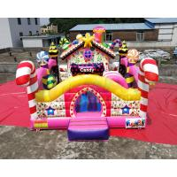 Colorful Candy Moonwalk Bounce House Slide Inflatable Kids Playground