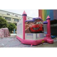 Wholesale Pink Cars Inflatable Jumping Bounce House With Printing For Toddler from china suppliers