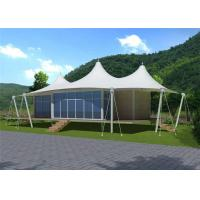 Buy cheap Prefab Houses Sandwich Panel Wall Stretched Cable Membrane Structure Villa Tent from wholesalers