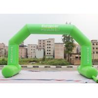 Quality Green Custom Inflatable Arch Stitch Fasten Tape UV / Digital Printing for sale