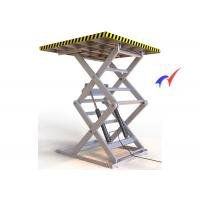 Buy cheap Stationary Scissor Table Lift , Steel Structure Static Scissor Lift Table from wholesalers