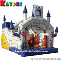 Wholesale Castle slide combo ,inflatable combo game,inflatable bouncer with slide obstacle KCB050 from china suppliers