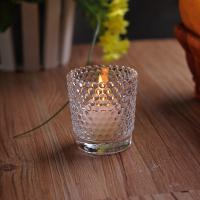 Wholesale Recycled High White Glass Tealight Candle Holders For Wedding Decoration from china suppliers