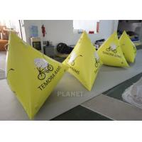 Wholesale 1.2m Yellow Tarpaulin Inflatable Triangle Buoy With Custom Logo from china suppliers