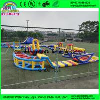 Wholesale outdoor inflatable water trampoline with slide for sale/ Inflatable Aqua Park/ Water Park Equipment With from china suppliers