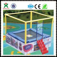 Wholesale Kids Outdoor Trampoline Park Used Trampoline with Safety Net for Children QX-117E from china suppliers