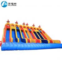 Wholesale Giant Removable Inflatable Water Slides Colorful Ten Lanes For Amusement from china suppliers