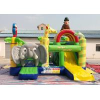 Wholesale Safari World Jungle elephant Inflatable Bouncy Castle for kids Outdoor N Indoor Playground Fun from china suppliers