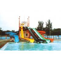 Wholesale 7.5M Water Park Equipments Linear Curly High-Speed Slide For Theme Park from china suppliers