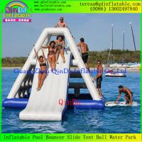 China Best Sale Qinda Inflatable Floating Water Slide Adults Inflatable Water Slide on sale