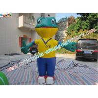 Durable Advertising Inflatables , 0.4mm PVC Tarpaulin Inflatable Frog